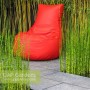 Contempory red bean seat with Equisetum japonicum and bamboo